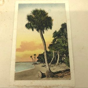 Vintage Wall Art - 1935 Calendar E.G. Barnhill Hand-Colored Beach